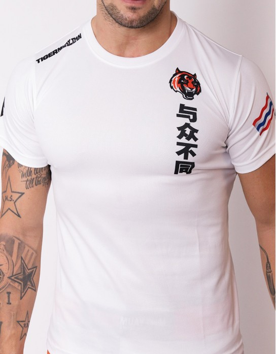 "T-shirt - ""Bu Tong"" - Soft Tech - White"