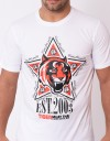 "T-Shirt - ""Tiger Star"" - Cotton - White"