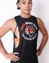"Female Low-cut Tank-Top - ""Signature Logo"" - Airflow - Black & Orange"