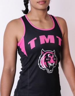 """Female Tank-Top - """"Bronco"""" - Soft-Tech - Black & Pink"""