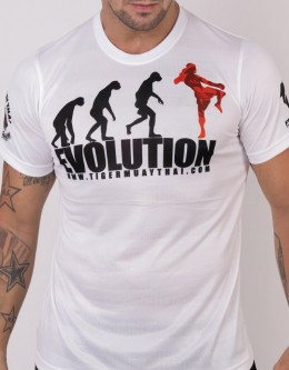 "T-Shirt - ""Evolution"" - Airflow - White"