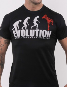 "T-Shirt - ""Evolution"" - Airflow - Black"