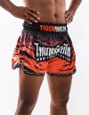 "Muay Thai Shorts - ""Tiger Stripes"" - Orange & Black"