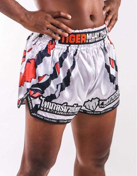 "Muay Thai Shorts - ""Clawmark"" - White"