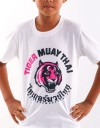 "Kids T-Shirt - ""Young Tiger"" - Soft Tech - White & Pink"