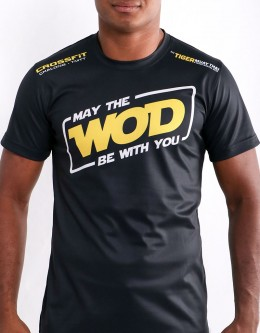 """T-Shirt - """"May The WOD Be with You"""" - Soft Tech - Black"""