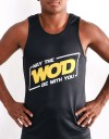 "Tank-Top - ""May The WOD Be with You"" - Soft Tech - Black"