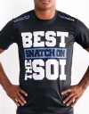 "T-Shirt - ""Best Snatch On The Soi"" - Soft Tech - Black"