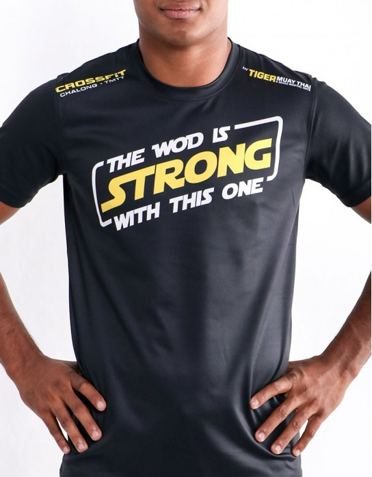 "T-Shirt - ""The WOD Is Strong With This One"" - Soft Tech - Black"