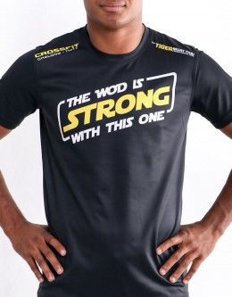 """T-Shirt - """"The WOD Is Strong With This One"""" - Soft Tech - Black"""