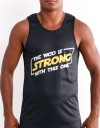 """Tank-Top - """"The WOD Is Strong With This One"""" - Soft Tech - Black"""