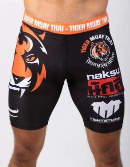 "MMA Shorts - ""TMT & Vamos"" - White & Black"