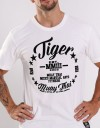 "T-Shirt - ""Retro TMT"" - Cotton - White"