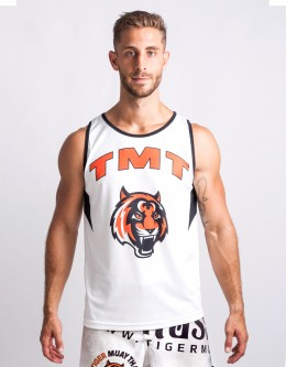 "Tank-Top - ""Bronco"" - 1stDry - White"
