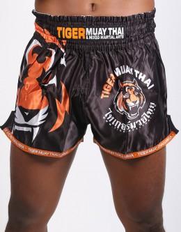 """Muay Thai Shorts - """"Signature"""" - Black & Orange"""