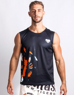 "T-Shirt - Sleeveless - ""Clawmark"" - 1stDry - Black"