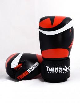 """Gloves - Muay Thai - """"Eyes"""" - Black & Orange"""