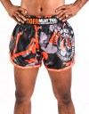 "Muay Thai Shorts - ""TMT & TMTFS Camo"" - Orange"