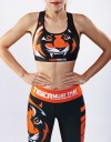 "Sport Bra - ""Signature"" - Black & Orange"