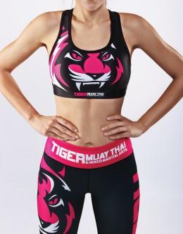 "Sport Bra - ""Signature"" - Black & Pink"
