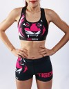 "Fitness Hotpants - ""Signature"" - Black & Pink"