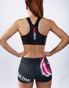 "Fitness Hotpants - ""Signature"" - Black & Pink"