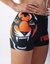 "Fitness Hotpants - ""Signature"" - Black & Orange"