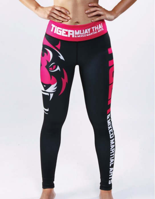 "Fitness Tights - ""Signature"" - Black & Pink"