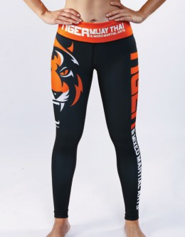 "Fitness Tights - ""Signature"" - Black & Orange"