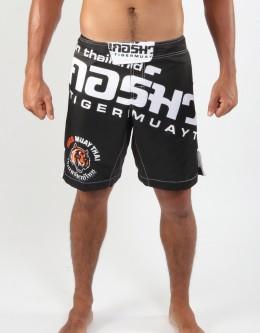 "MMA Shorts - ""Thai Writing XL"" - Black & White"