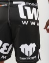 "MMA Shorts - ""Thai Writing XL"" - Black & White"