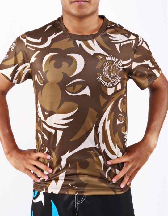 "T-Shirt -  ""Camo"" - 1stDry - Brown"