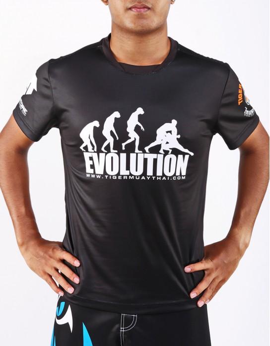 "T-Shirt -  ""Evolution TMT"" - 1stDry - Black"