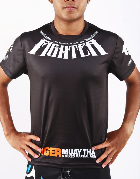 "T-Shirt -  ""Fighter"" - 1stDry - Black"
