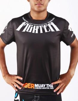 "T-Shirt -  ""Fighter"" - 1stDry - Black"