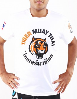 "T-Shirt -  ""Tiger Big Logo"" - 1stDry - White"