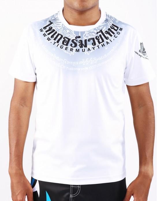 "T-Shirt -  ""Sak Yan Tiger"" - 1stDry - White"