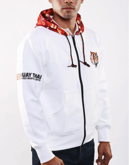 "(New) Hoodie - ""Tiger Carmo"" - White"