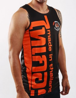 "Tank-Top - ""Arrow Thai Writing"" - 1stDry - Black & Orange"
