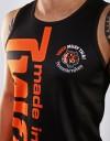 "Tank-Top - ""Arrow Thai Writing"" - 1stDry - Black & Orange"