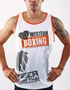"Tank-Top - ""Western Boxing"" - 1stDry - White"