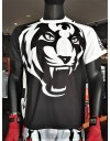 "T-Shirt -  ""Tiger Head V2"" - 1stDry - Black & White"