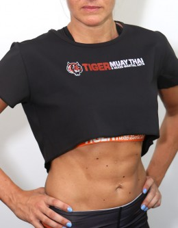 TMT Fitness Crop-Top - Black