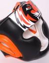 Tiger Muay Thai Headgear - Black & Orange