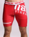 "Compression Shorts - ""Sponsored Fighter Shorts"" - Black & Orange"