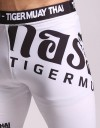 "Compression Shorts - ""Thai Writing XL"" - White & Black"