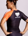 "Rashguard - Female - Shortsleeve - ""Signature"" - Black & Orange"