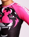 "Female Rashguard - Shortsleeve - ""Signature"" - Black & Pink"