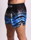 "Muay Thai Shorts - ""Tiger Stripes"" - Blue"