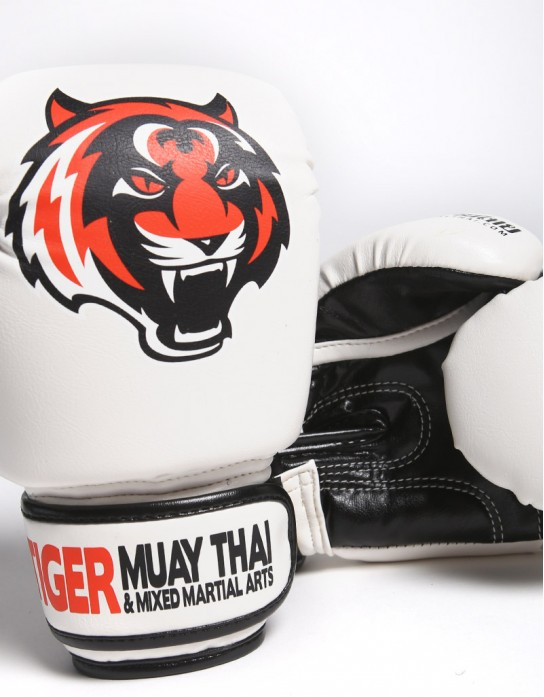 "Kids Gloves - Muay Thai - ""Signature"" - White"